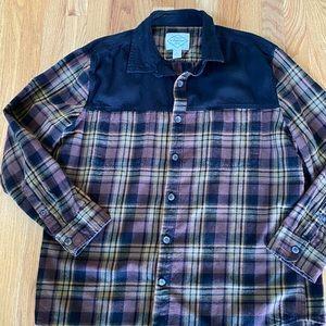 Men's Flannel Button-down Shirt by St. John's Bay